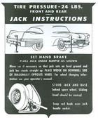 1957 57 CADILLAC JACK INSTRUCTION NOTICE