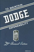 1946 1947 1948 DODGE PASSENGER CAR OWNER'S MANUAL