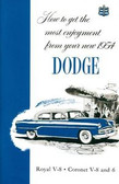 1954 DODGE CORONET V-8 & 6/ROYAL V-8 PASSENGER CAR OWNER'S MANUAL