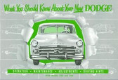1950 DODGE PASSENGER CAR OWNER'S MANUAL