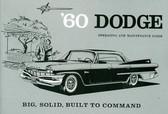 1960 DODGE PASSENGER CAR OWNER'S MANUAL