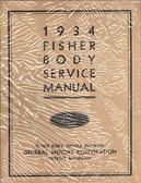 1934 CHEVROLET BODY REPAIR MANUAL