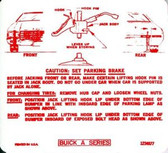 1970 BUICK GS/ SPECIAL/ SKYLARK JACK INSTRUCTION DECAL