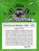1928 30 31 FORD MODEL A SVC BULLETINS (SHOP MANUAL)