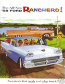 1958 FORD RANCHERO SALES BROCHURE