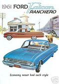 1961 FORD FALCON RANCHERO PICKUP SALES BROCHURE