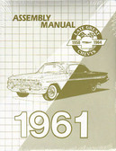 1961 CHEVROLET PASSENGER CAR ASSEMBLY MANUAL