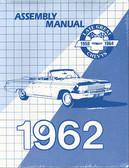 1962 CHEVROLET PASSENGER CAR ASSEMBLY MANUAL