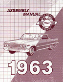 1963 CHEVROLET PASSENGER CAR ASSEMBLY MANUAL