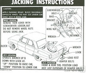 1964 1965 CHEVY ll JACK INSTRUCTION DECAL