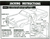 1964 1965 1966 EL CAMINO JACK INSTRUCTION DECAL