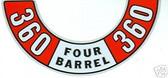 72 73 74 BARRACUDA /CHALLENGER 360 4 BARREL ACD