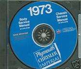 73 PLYMOUTH BARRACUDA/ROAD RUNNER SHOP/BODY MANUAL-CD