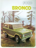 1975 FORD BRONCO SALES BROCHURE