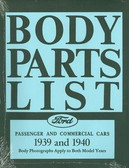 1939 1940 FORD MODEL A BODY PARTS LIST-COVERS PASSENGER & COMMERCIAL CARS