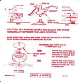 1971 BUICK GS/ SPECIAL/ SKYLARK JACK INSTRUCTION DECAL