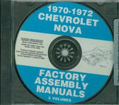 1970 71 72 CHEVY II/NOVA ASSEMBLY MANUAL ON CD