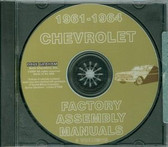 1961 62 63 64 CHEVY CAR ASSEMBLY MANUAL ON CD