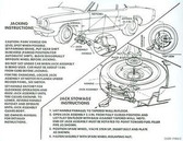 1966 MUSTANG JACK INSTRUCTION DECAL