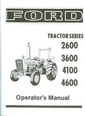 1975 76 77 78 79 80 81 FORD TRACTOR OWNER'S MANUAL- SERIES 2600 3600 4100 4600
