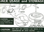 1969 COUGAR (REG WHEEL) JACK INSTRUCTION DECAL