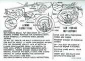 1967 COUGAR JACK INSTRUCTION DECAL