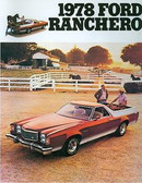 1978 FORD RANCHERO SALES BROCHURE
