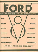1939 -40 FORD CAR ENGINE & CHASSIS SHOP MANUAL
