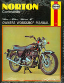 1968 69 70 71 72 73 74 75 76 77 NORTON COMMANDO 745/828 CC SHOP MANUAL