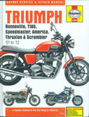 2001 02 03 04 05 06 07 08 09 10 11 12 TRIUMPH BONNEVILLE SHOP MANUAL-HARD COVER
