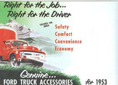 1953 FORD TRUCK GENUINE ACCESSORIES BROCHURE