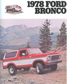 1978 FORD BRONCO SALES BROCHURE