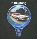 1971 MUSTANG/ MACH 1/BOSS 351 SALES BROCHURE