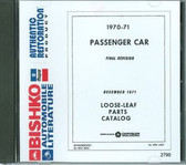 1970-71 MOPAR( DODGE/PLYMOUTH/CHRYSLER) BODY, CHASSIS, TEXT PARTS BOOK ON CD
