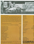 "1963 SHELBY COBRA SPORTS ROADSTER ""289"" 2-COLOR SALES BROCHURE"