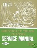 1971 CHEVROLET TRUCK SHOP MANUAL-SERIES 10-30