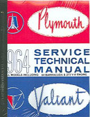 1964 64 BARRACUDA /BELVEDERE/ VALIANT SHOP MANUAL