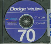 1970 DODGE CHARGER/CORONET SHOP/BODY MANUAL ON CD
