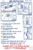 1970 DODGE CORONET/RT/BELVEDERE JACK INSTRUCTION DECAL