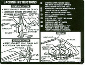 1971 CHEVELLE/SS JACK INSTRUCTION DECAL