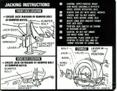 1971 CHEVROLET EL CAMINO JACK INSTRUCTION DECAL