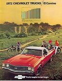 1972 72 EL CAMINO/SS454 SALES BROCHURE