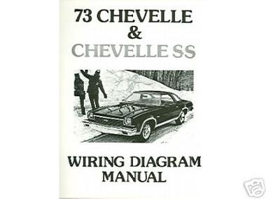 1973 73 CHEVELLE/SS/EL CAMINO WIRING DIAGRAM MANUAL - MJL ...
