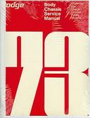1973 73 DODGE CHALLENGER/CHARGER/DART SHOP MANUAL