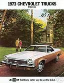 1973 73 EL CAMINO/SS454 SALES BROCHURE
