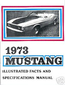 1973 73 MUSTANG/MACH 1 ILLUSTRATED FACTS