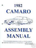 1982 82 CAMARO ASSEMBLY MANUAL