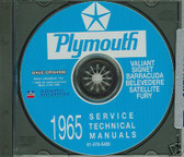65 PLYMOUTH BARRACUDA/SATELLITE SHOP/BODY MANUAL ON CD