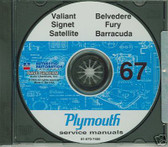67 PLYMOUTH BARRACUDA/SATELLITE SHOP/BODY MANUAL ON CD