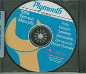 69 ROAD RUNNER/CUDA/SATELLITE/ SHOP/BODY MANUAL-CD